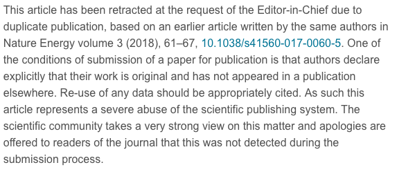 UPDATED: Elsevier retracts a paper on solar cells that appears to